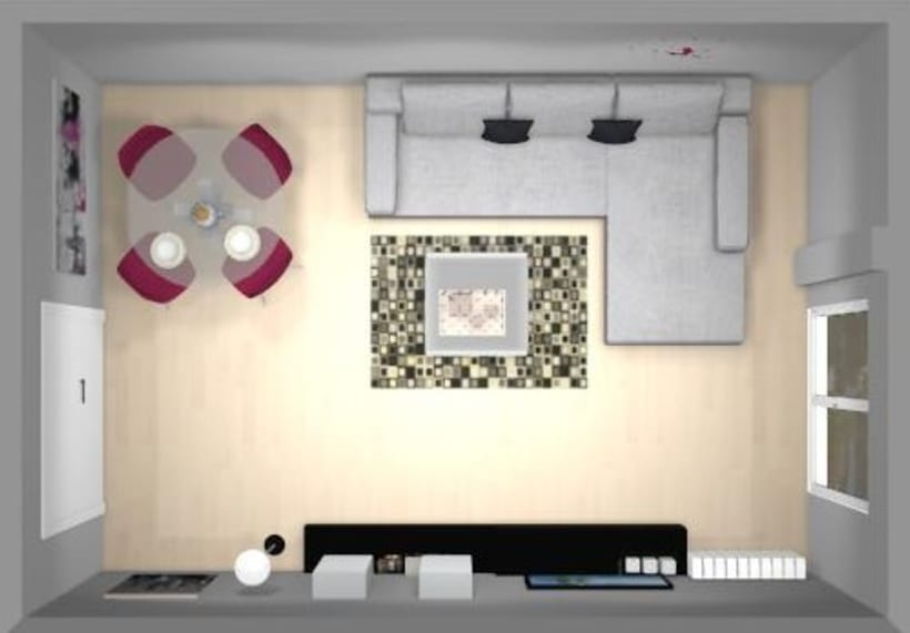 Distribución y decoración en dormitorio y salón 4