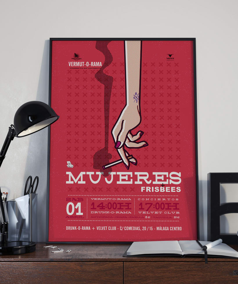 Cartel MUJERES + frisbees - Vermut-O-Rama - 1 Abril 5