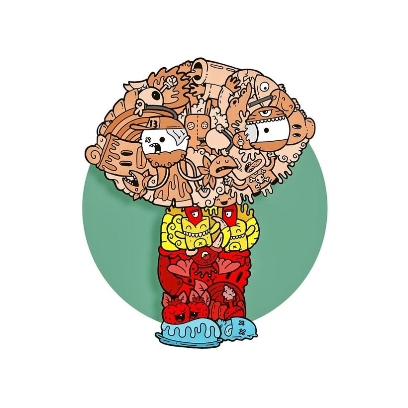 Stewie Griffin illustration -1