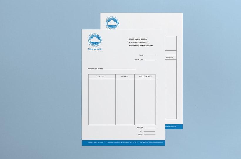 Identidad ludoteca Nubes de cartón 5
