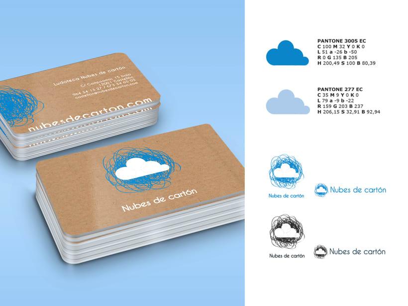 Identidad ludoteca Nubes de cartón 2