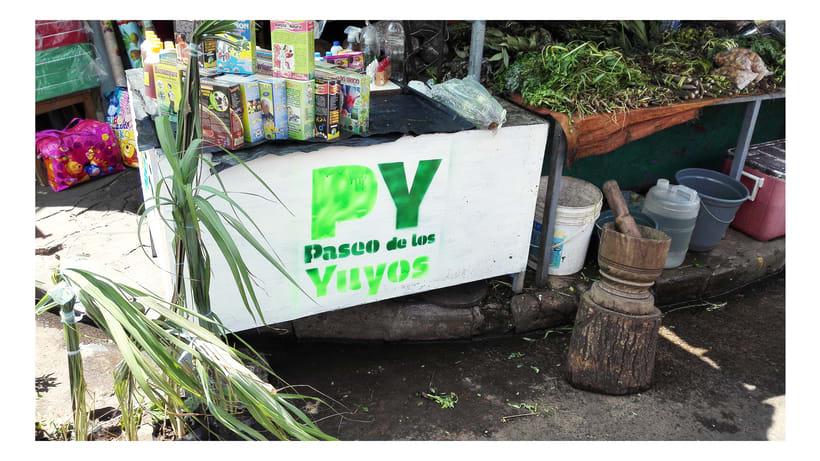 Identidad Paseo de los Yuyos - Mercado Nº 4  de Asunción. 1