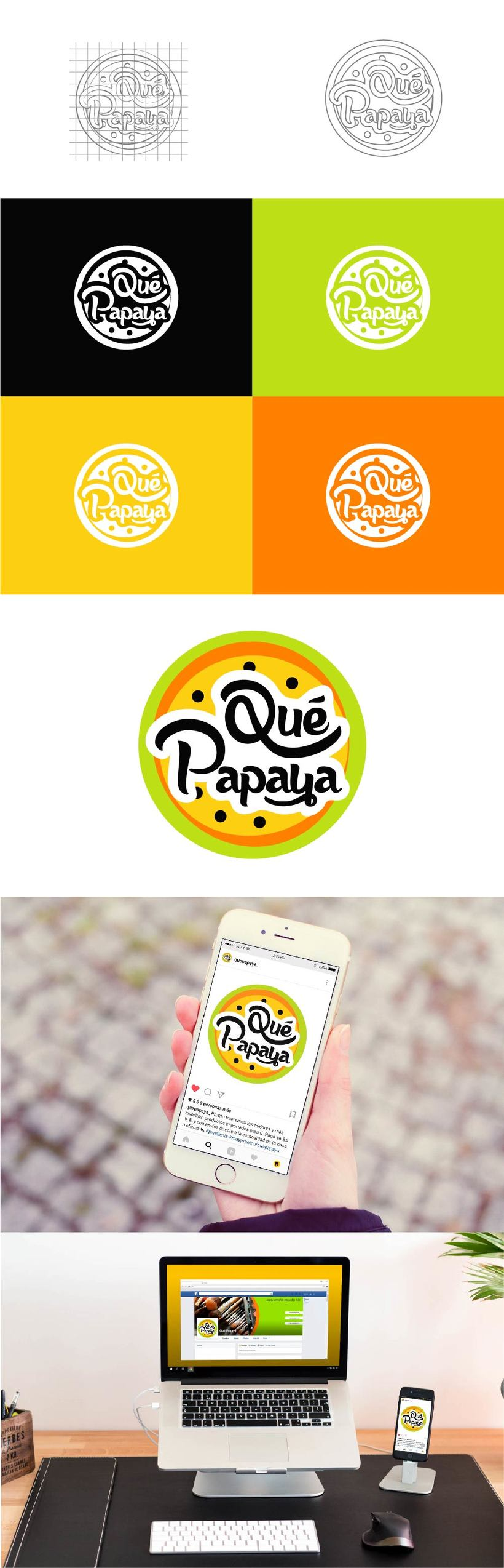 Logo Design: QuéPapaya -1