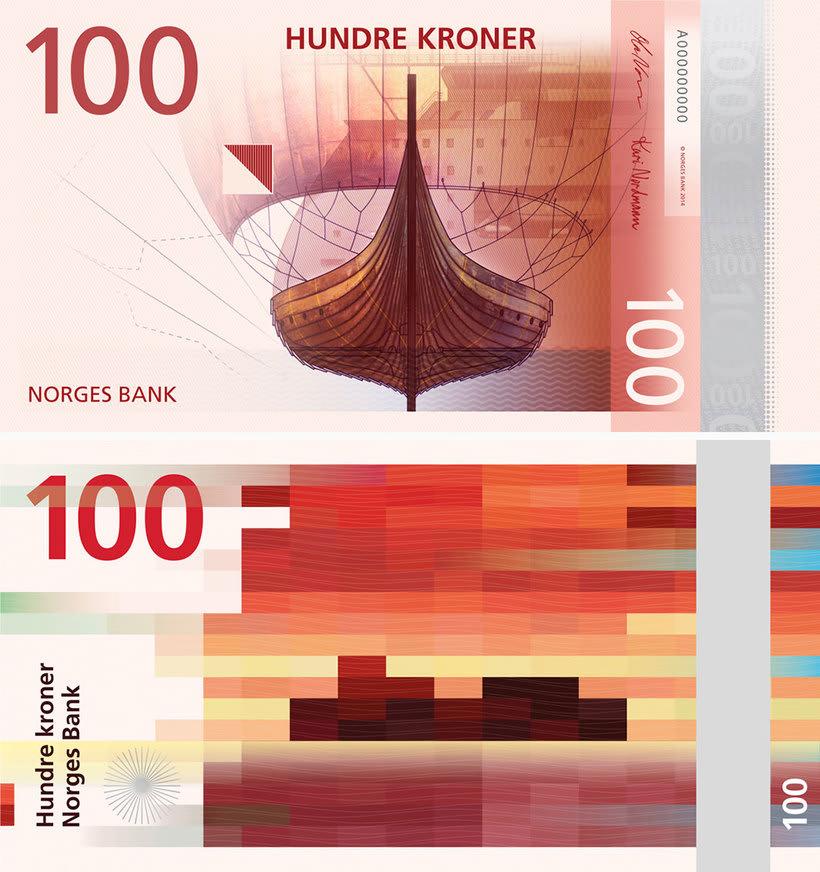 Noruega estrena billetes con diseño pixelado 5