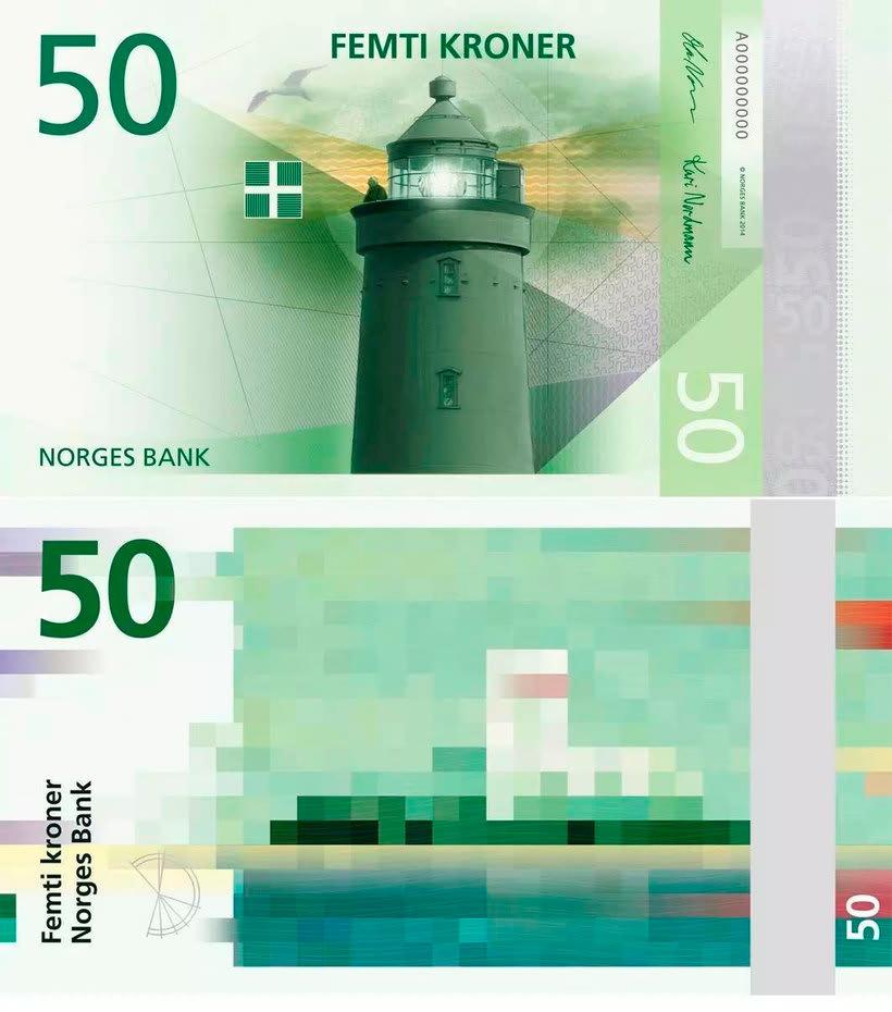 Noruega estrena billetes con diseño pixelado 7