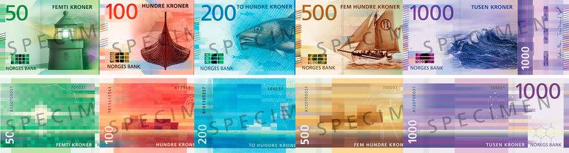Noruega estrena billetes con diseño pixelado 3
