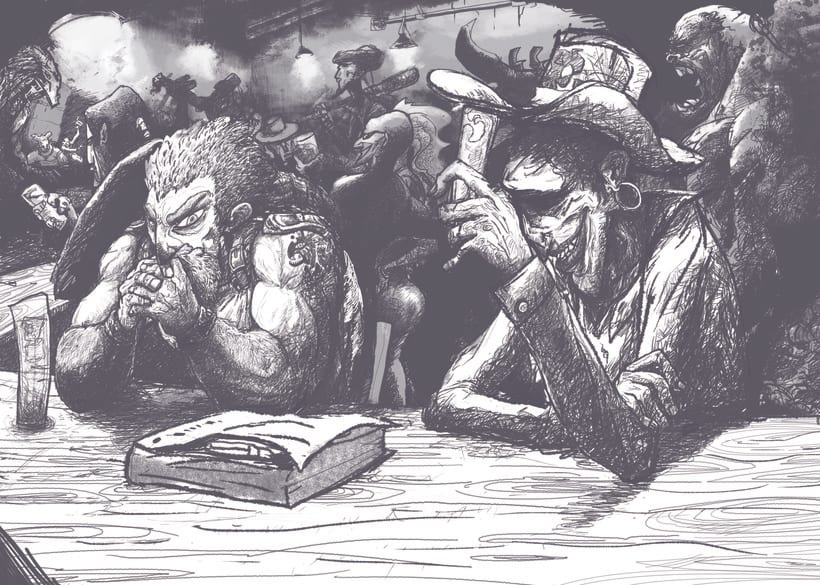 Ilustraciones para proyecto personal de cómic.  -1