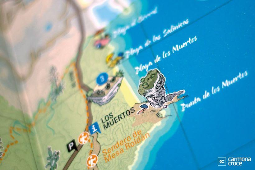 Diseño e ilustración de mapa turístico 1
