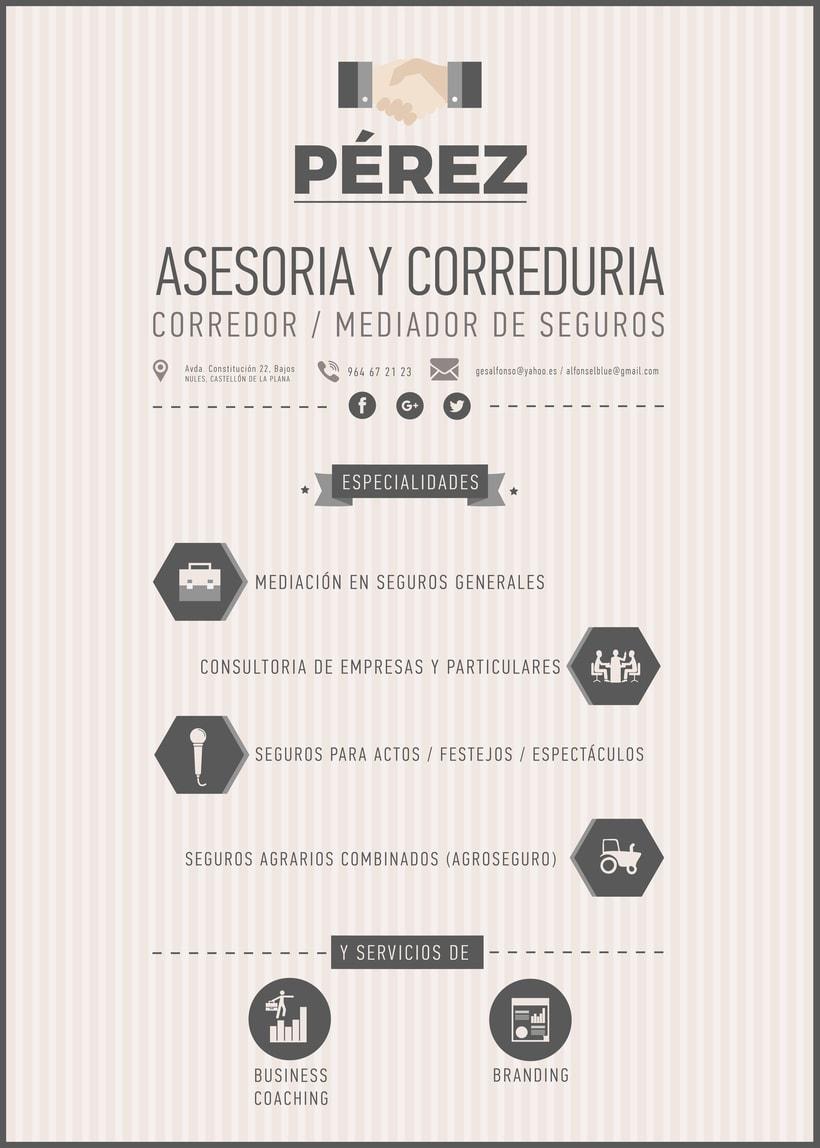 Consultoria Pérez / Tarjeta de visita -1