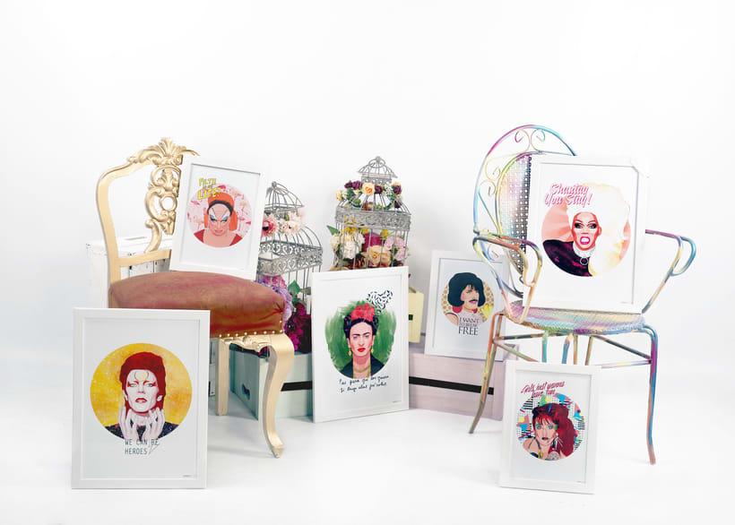 ICONIC: Retratos ilustrados personalizados de iconos famosos. 1