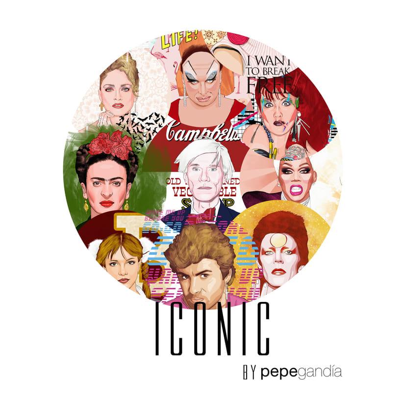 ICONIC: Retratos ilustrados personalizados de iconos famosos. 0