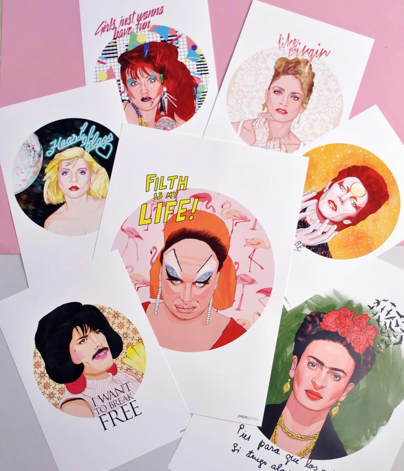 ICONIC: Retratos ilustrados personalizados de iconos famosos. 2