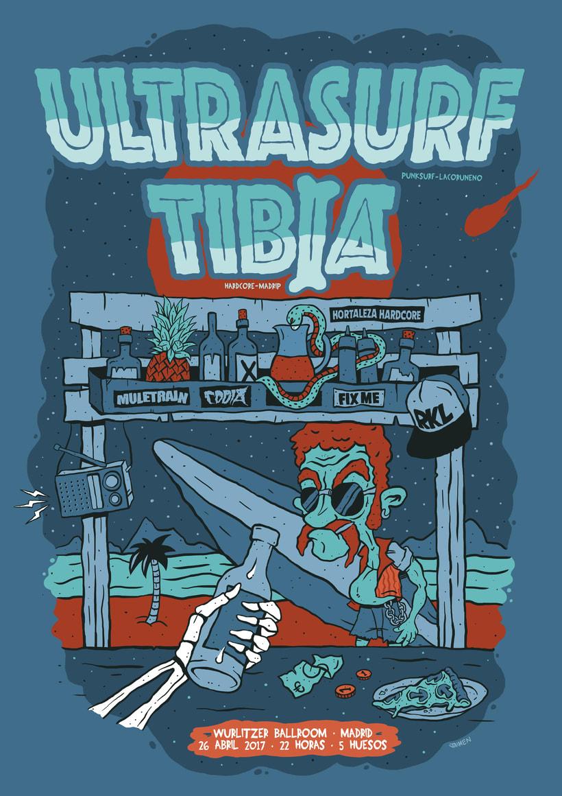 Cartel para concierto: ULTRASURF & TIBIA -1