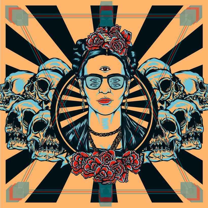 Frida kahlo Psychedelic 4