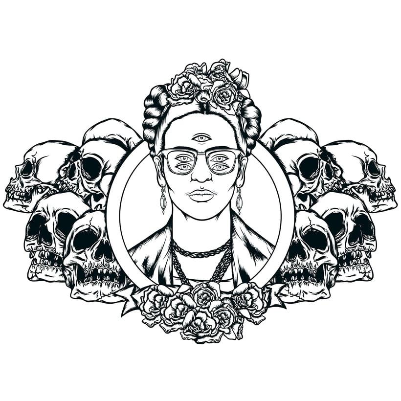 Frida kahlo Psychedelic 0