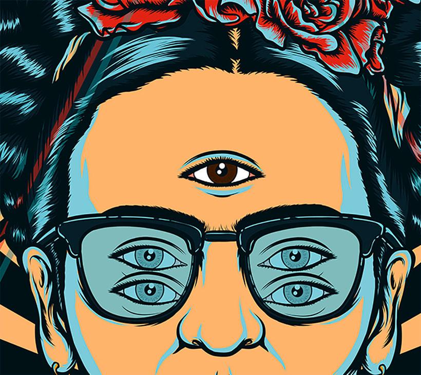 Frida kahlo Psychedelic 5