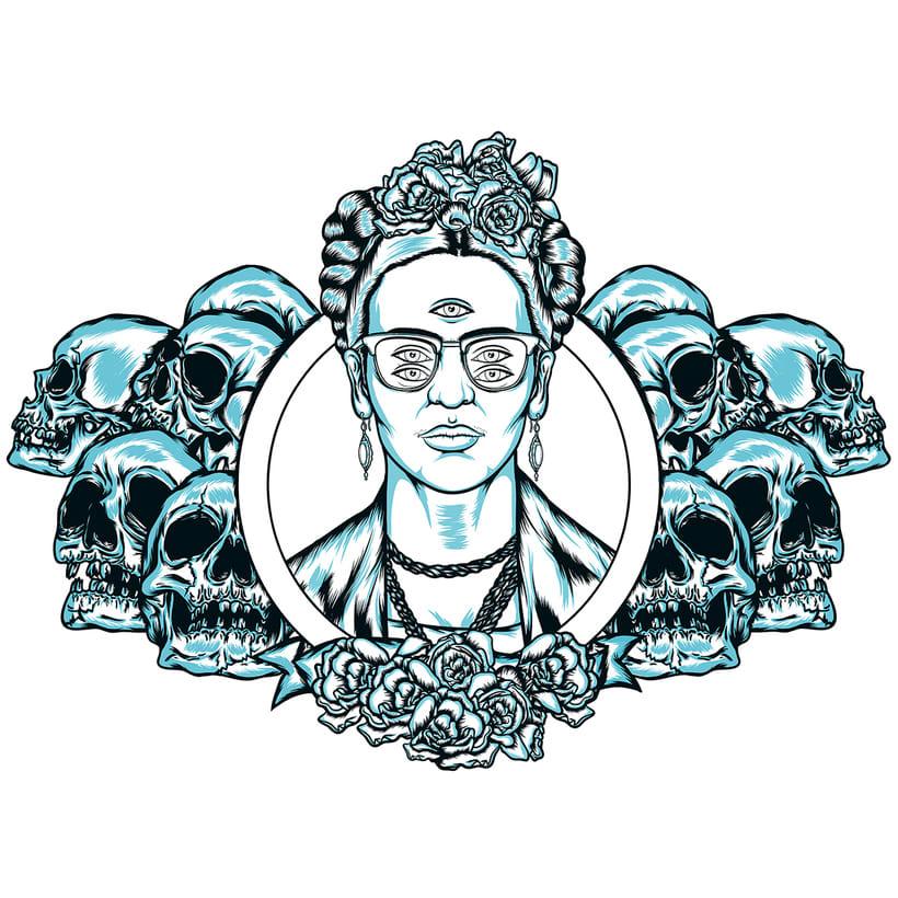 Frida kahlo Psychedelic 2