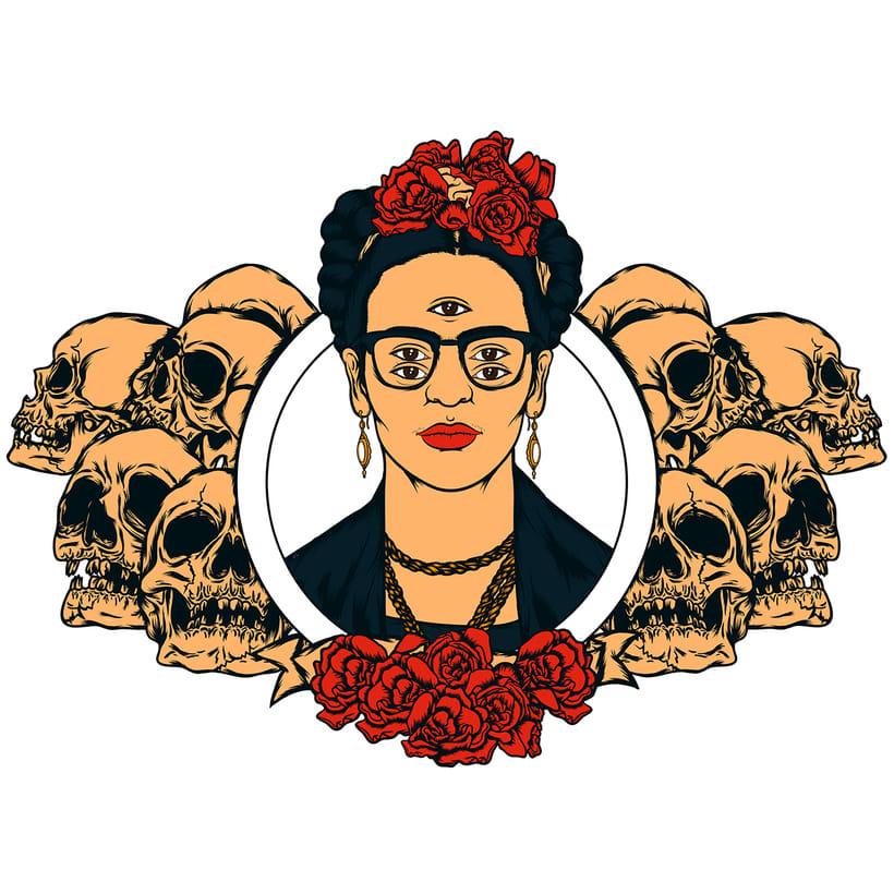 Frida kahlo Psychedelic 1