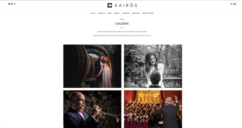 www.kairosfoto.com, web de fotografía. 1