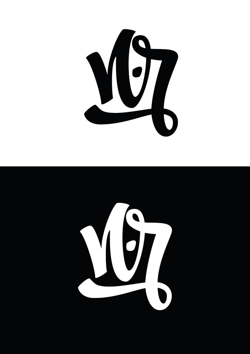 Mi Proyecto del curso: Diseño de monogramas con estilo |N.R 5