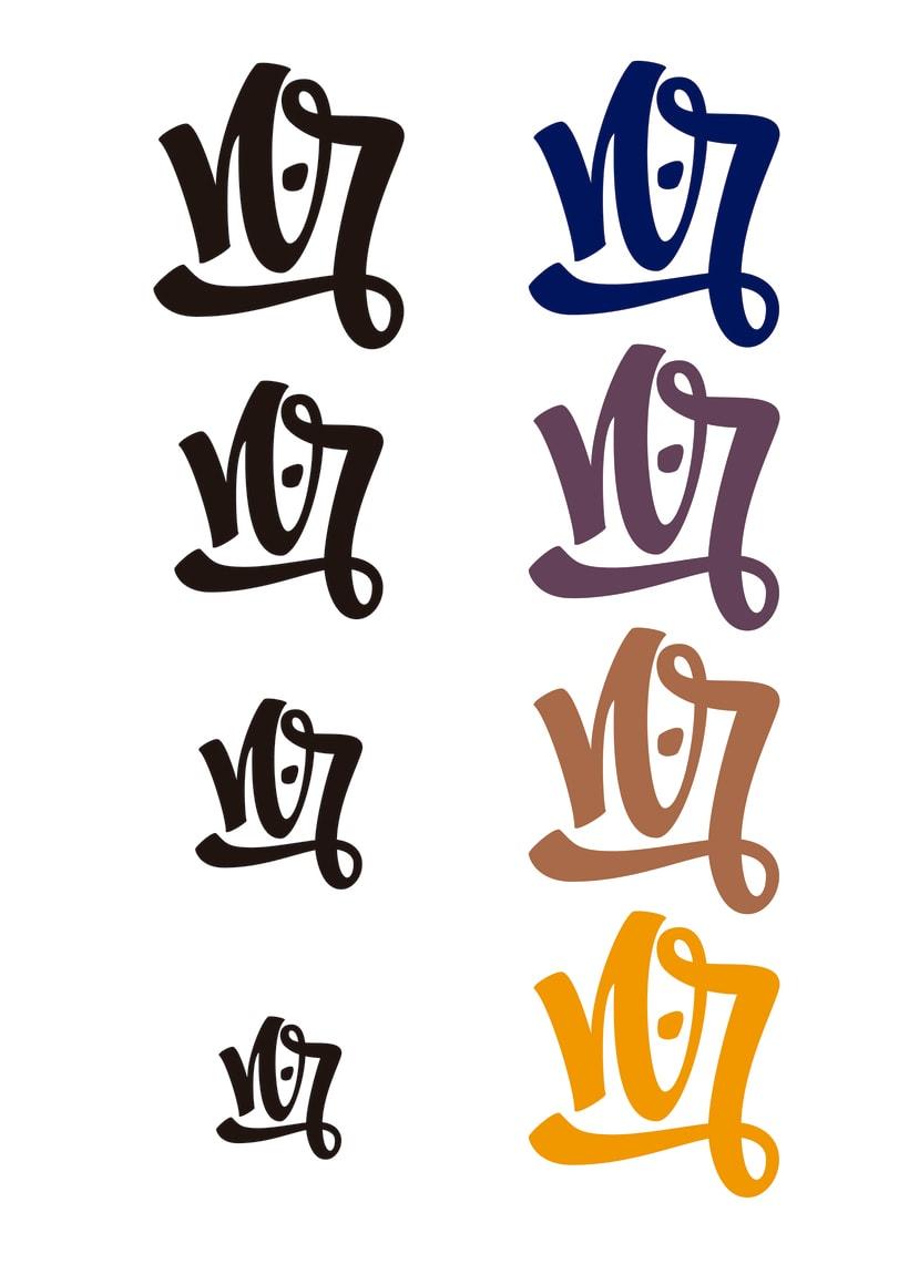 Mi Proyecto del curso: Diseño de monogramas con estilo |N.R 6