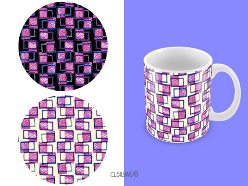 Mi Proyecto del curso: Diseño de estampados textiles - SELLOS 8