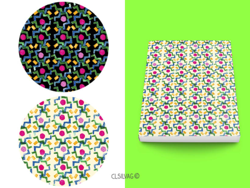 Mi Proyecto del curso: Diseño de estampados textiles - SELLOS 12