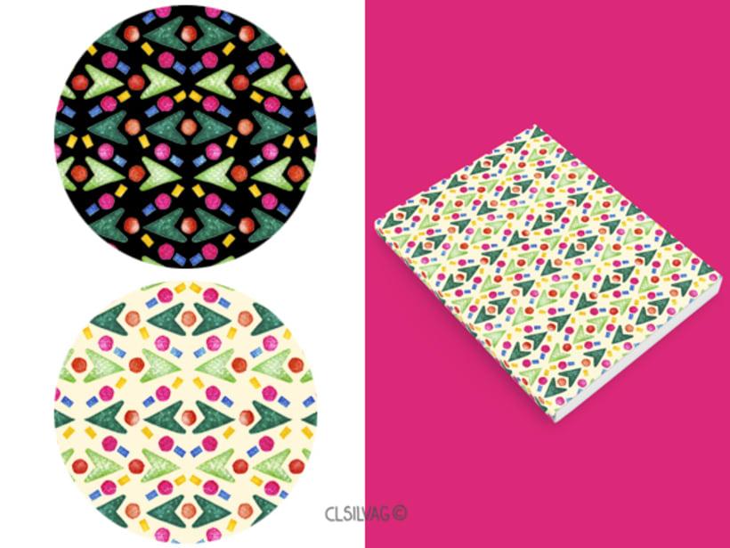 Mi Proyecto del curso: Diseño de estampados textiles - SELLOS 16