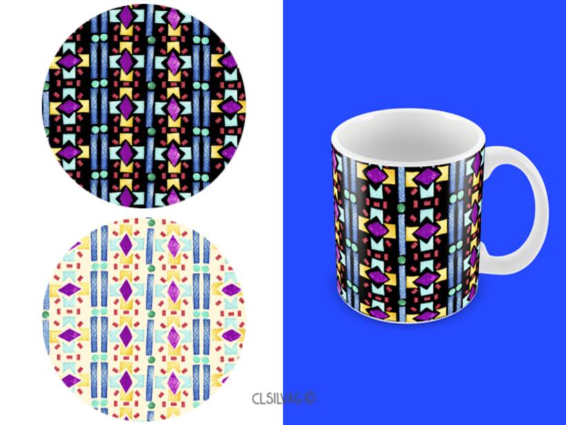 Mi Proyecto del curso: Diseño de estampados textiles - SELLOS 18