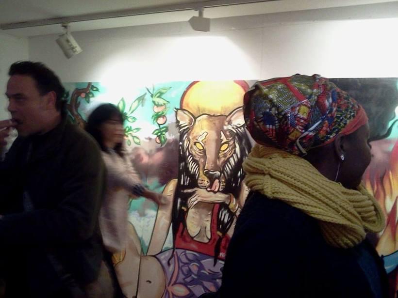 ART I DONA INcorporAR. ( EXposició col.lectiva Centre Cívic Barceloneta 8deMarç. Dona TReballadora. Mujeres DE ESAS. 2015) 2