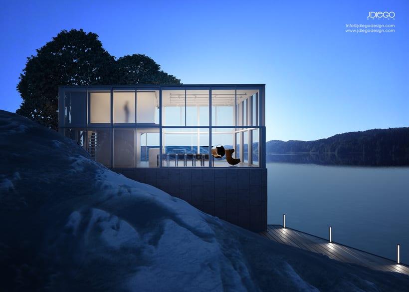 Mi Proyecto del curso: Representación de espacios arquitectónicos con 3D Studio Max 0
