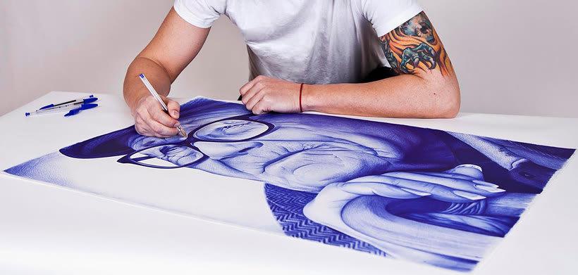 Chema Mora ilustra la vida con un bolígrafo de usar y tirar 6