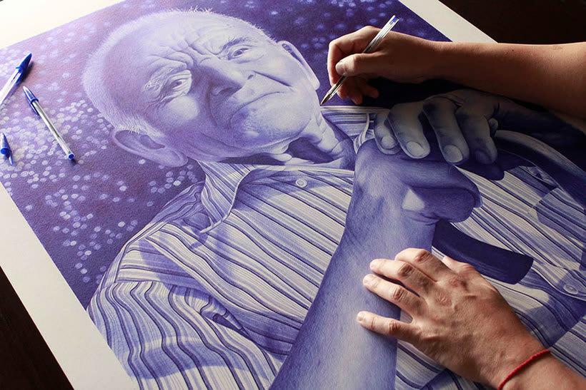 Chema Mora ilustra la vida con un bolígrafo de usar y tirar 11