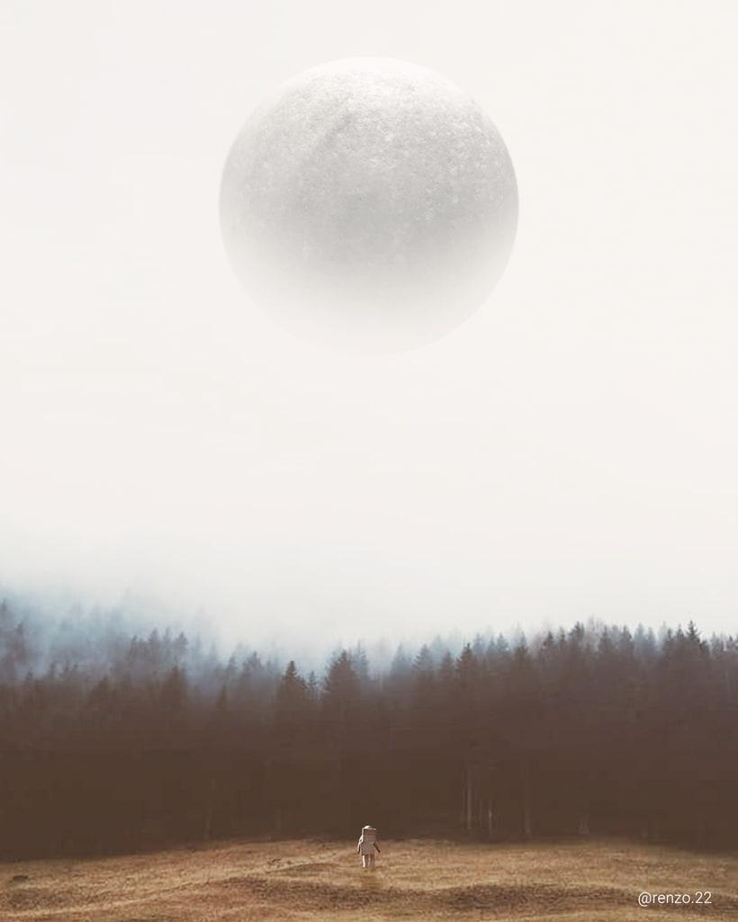 """Afiches 3D """"el viajero y las esferas""""  4"""