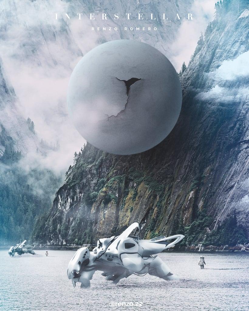 """Afiches 3D """"el viajero y las esferas""""  2"""