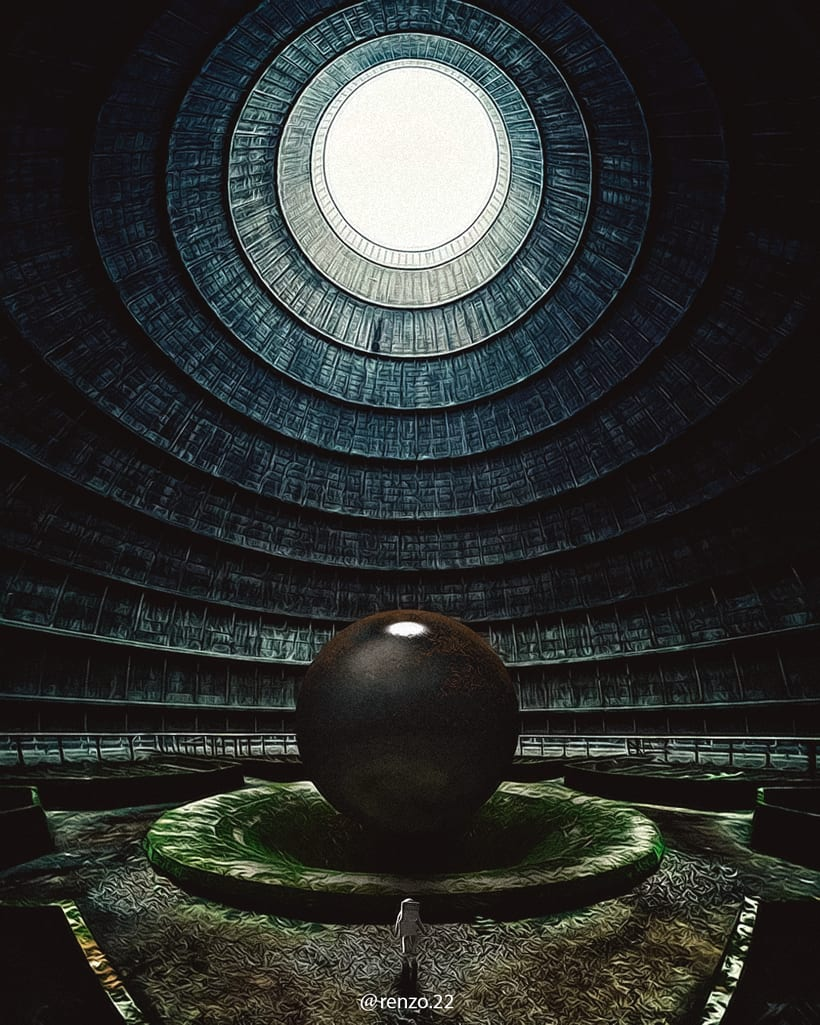 """Afiches 3D """"el viajero y las esferas""""  5"""