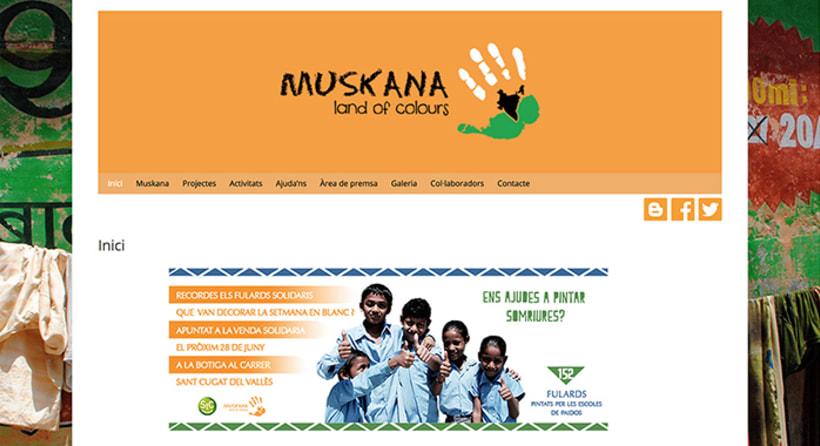 Disseny - ONG Muskana, land of colours 1