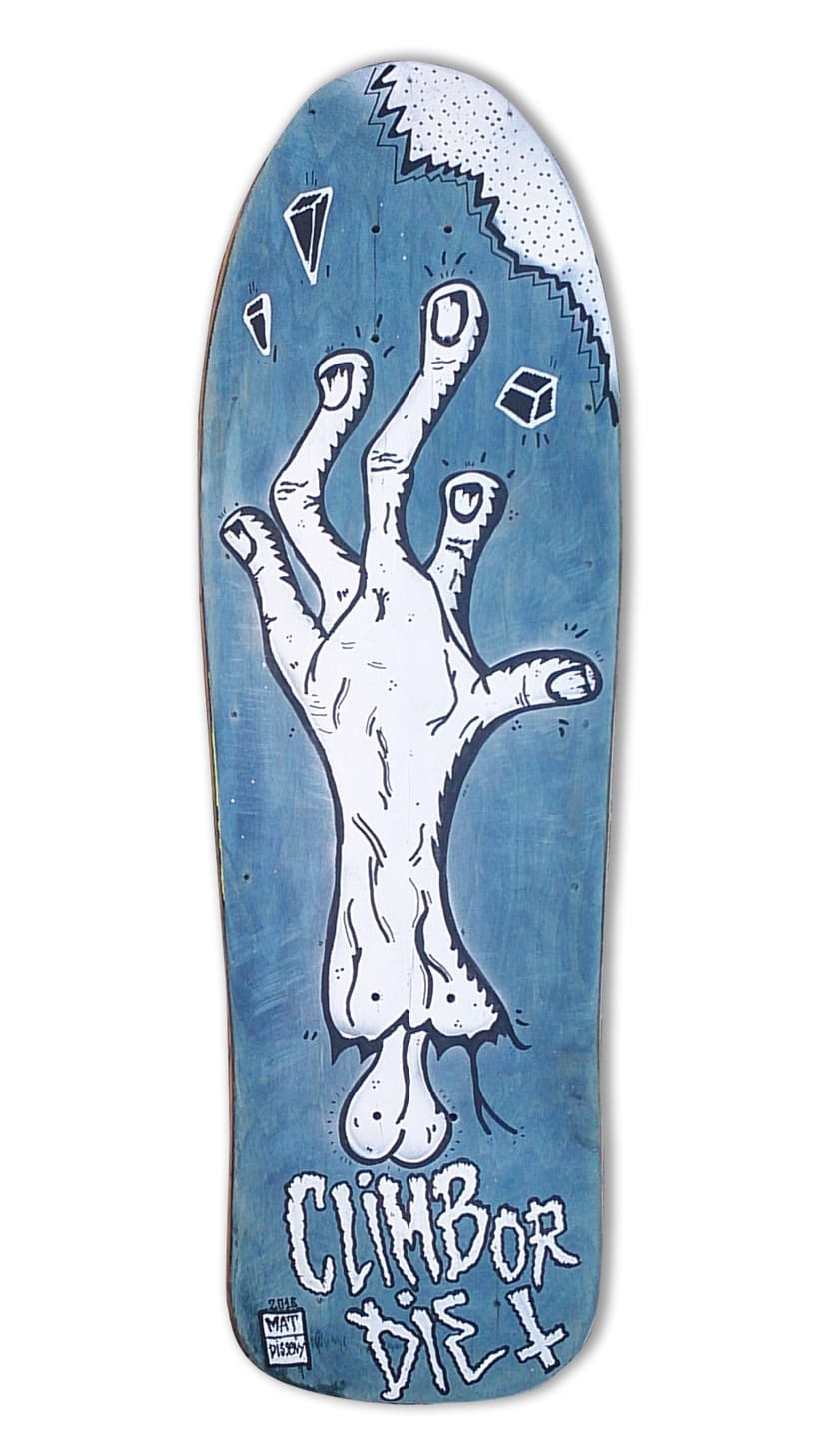 Skateboard • Climb or die #SkateArt -1
