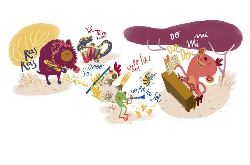 Animals musicals | Magazine illustration 1