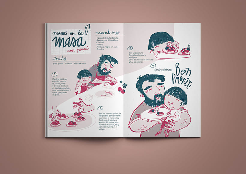 Manos en la masa | Recipe magazine illustration -1