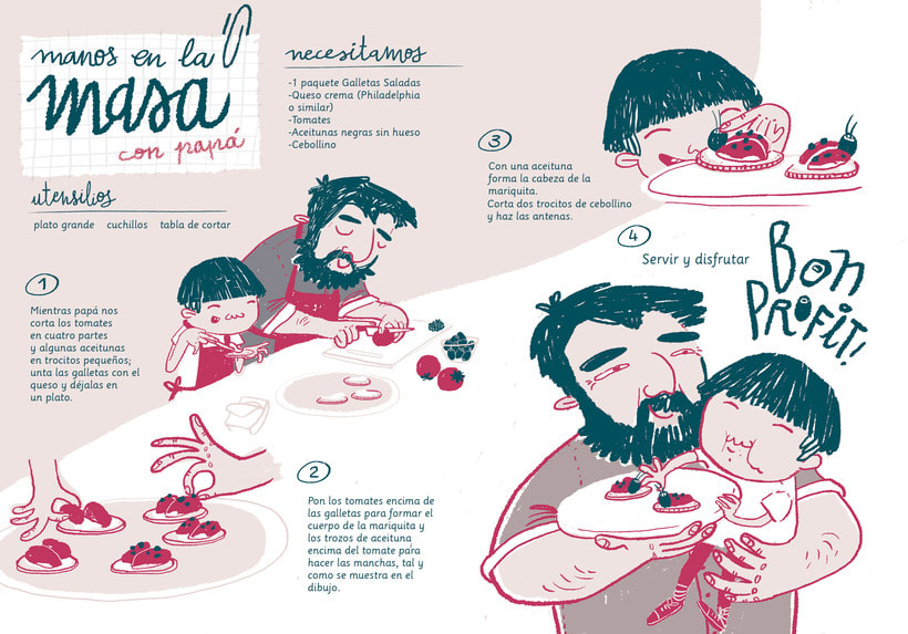 Manos en la masa | Recipe magazine illustration 0