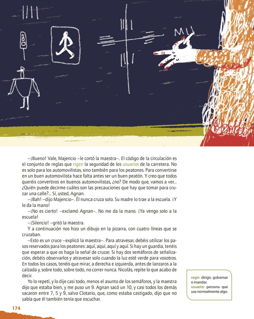 Traffic lesson | Textbook illustration 1