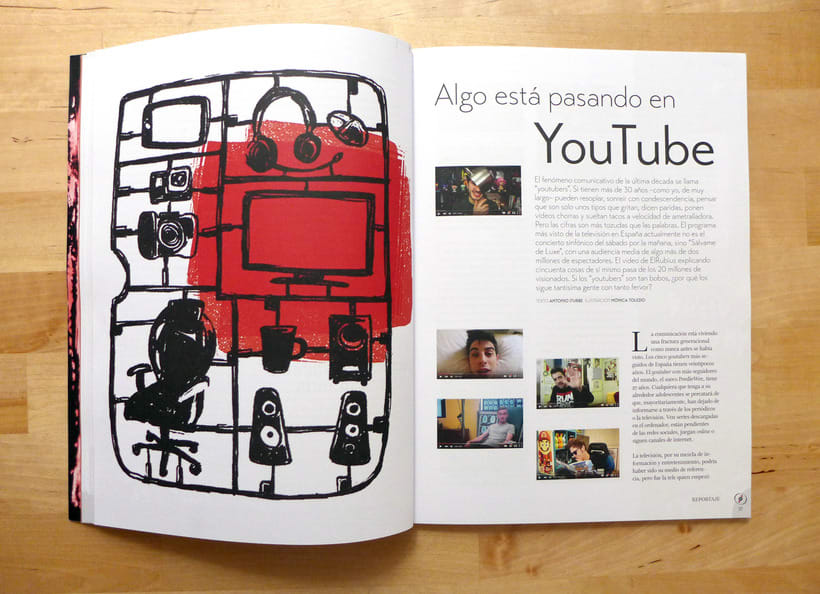 Youtubers | Magazine illustration -1