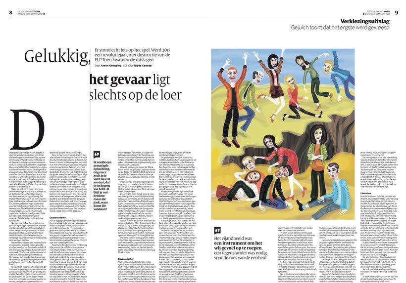 Ilustración para De Volkskrant (Netherlands) 1