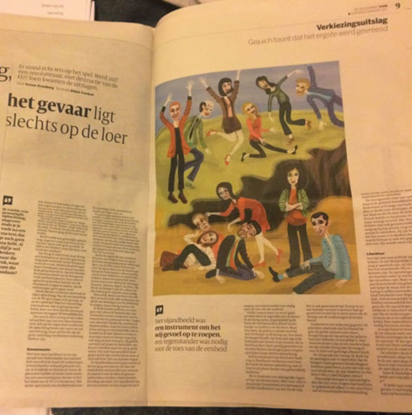 Ilustración para De Volkskrant (Netherlands) 2