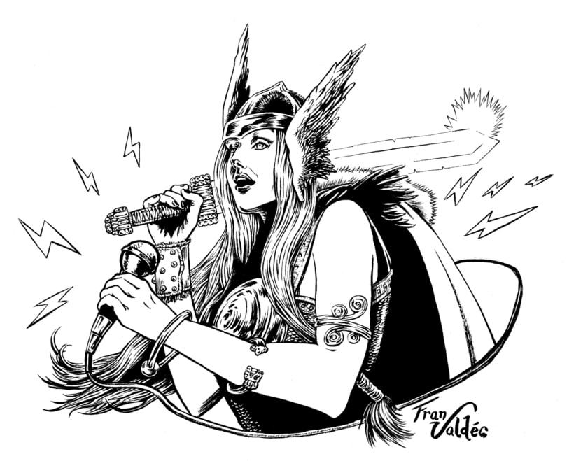 Retrato fantástico - Isa la Vikinga 1