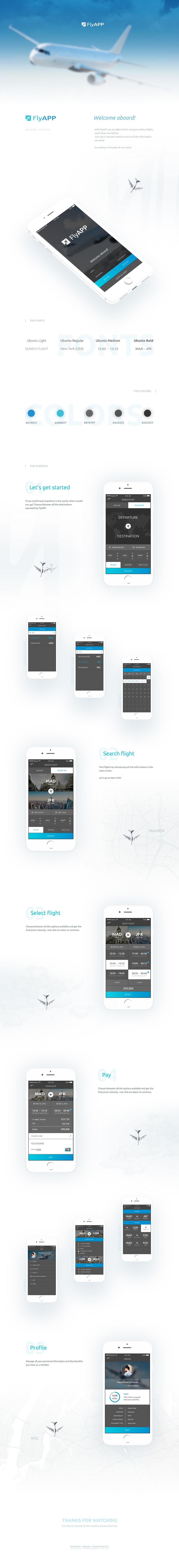 FlyAPP - App Design 0