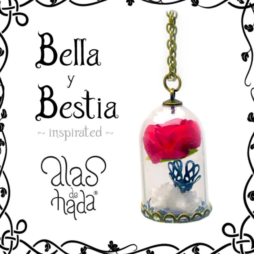 Bella y Bestia colgante -1