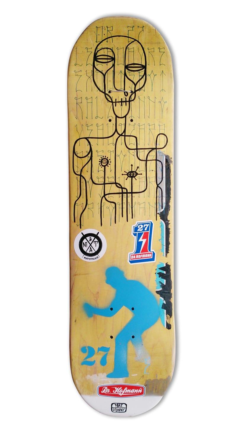 Skateboard • @drhofmann27 x @matdisseny #SkateArt -1
