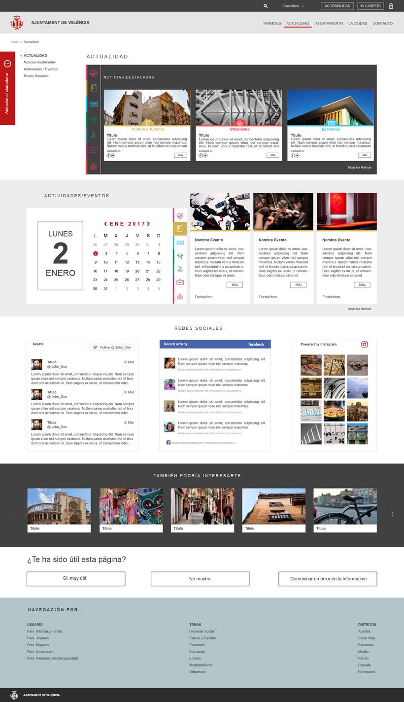 Ayuntamiento de Valencia - Propuesta nueva web (UI Design) 2